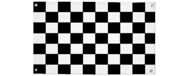 Chequered Cloth Flag - 1.5m