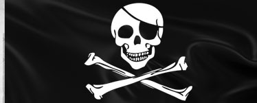 Pirate Cloth Flag - 1.5m