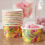 Flamingo Fun Ice Cream Treat Tubs