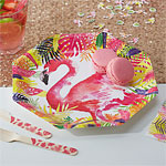 Flamingo Fun Plates - 25cm Paper Party Plates