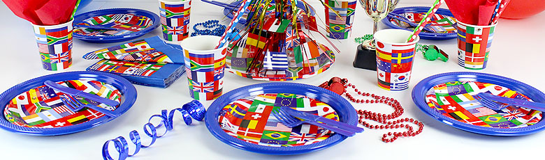 International flag party supplies party delights for International party decor