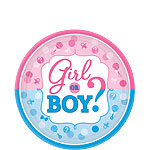 Gender Reveal Paper Plates - 17cm