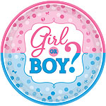 Gender Reveal Paper Plates - 26cm