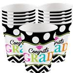 Graduation Cups - 255ml Paper Party Cups