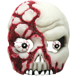 Skull Mask - Bloody Half Face