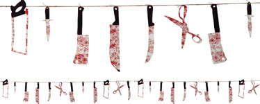 Bloody Weapon Garland - 2.3m
