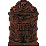 Bronze Snake and Skull Tombstone - 56cm