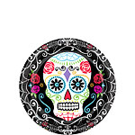 Day of the Dead Dessert - Paper Party Plates 17cm