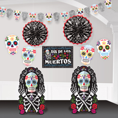 day of the dead room decorating kit - Day Of The Dead Halloween Decorations