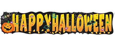 Giant Happy Halloween Banner