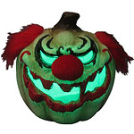 Scary Clown Light Up Pumpkin - 23cm