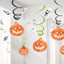 value halloween family friendly swirls 60cm - Halloween Hanging Decorations