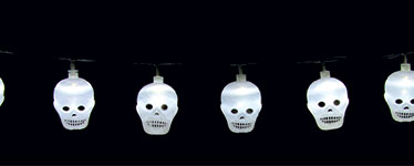 Halloween Skull String Lights - 20 LED Lights
