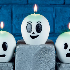 Halloween Glow in the dark Ghost Candle - 9cm