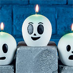 Glow in the Dark Ghost Candle - 9cm