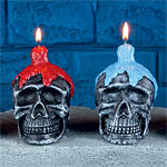 Halloween Skull Candle - 10cm Assorted