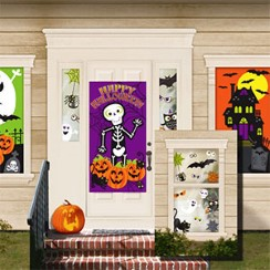 Halloween window door decorations party delights - Deco porte halloween ...