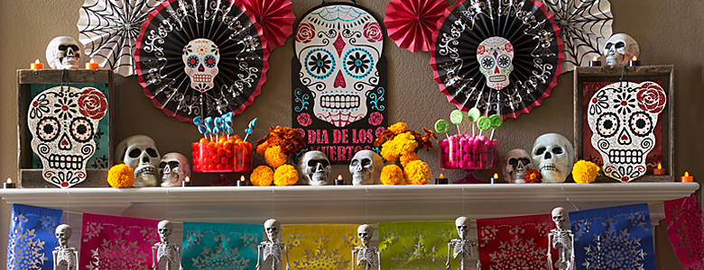 Day of the dead decorations party delights for Day of the dead craft supplies