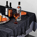 Halloween Tablecloth - 1.5m x 2.1m Black Cheesecloth Tablecover