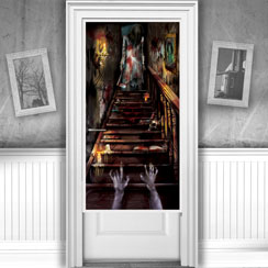 Door decorations curtains posters party delights for 13 door haunted house