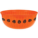Large Serving Bowl With Pumpkin Trim - 30cm