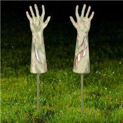 zombie arms garden stakes 33cm