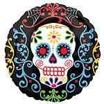 Day of the Dead Foil Balloon - 18'' Foil