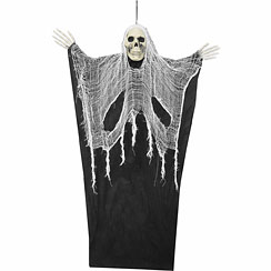 Hanging Scary Black Reaper - 1.2m