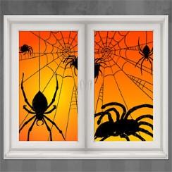 spider window decorations 165m - Halloween Window Decoration