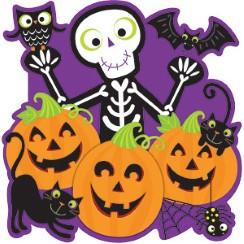 friendly cutout 38cm - Friendly Halloween Decorations