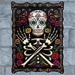Skull & Rose Lenticular Sign - 42cm