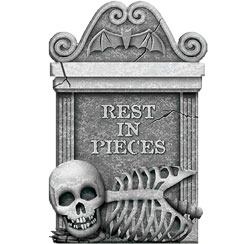 Tombstone Rest In Pieces - 55cm Halloween Decoration