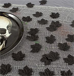 Boneyard Black Fabric Leaves - 6cm