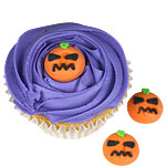 Halloween Pumpkin Sugar Cake Decorations - 2.5cm