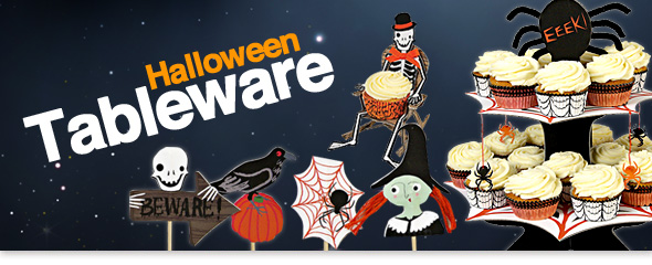 Halloween Tableware Choose from our great selection of Halloween Tableware and our new 3D range too!