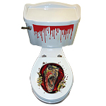 Scary Head Toilet Topper