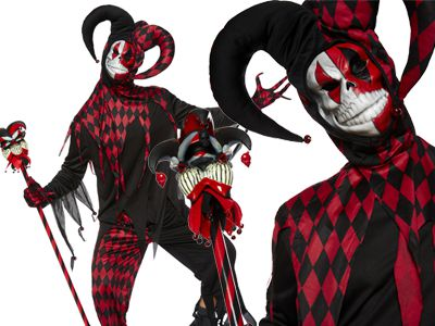 The best halloween costumes of 2017 embrace your crazy side with and transform yourself into a mad jester this halloween complete this look with a red and black clown wig and a krazed jester solutioingenieria Image collections