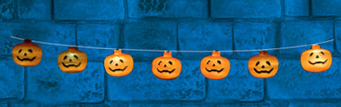 L.E.D Pumpkin String Lights - 1.2m