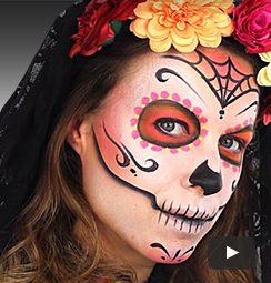 Halloween Make Up Tutorials Easy Halloween Face Paint