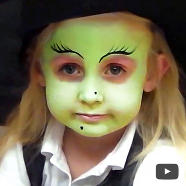Gallery For &gt Witch Face Painting - Witch Face Paint And Makeup Ideas ...