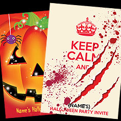 Personalised Halloween Invites