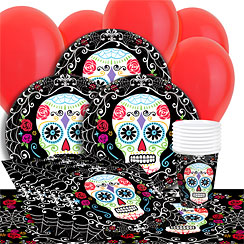 Day of the Dead Party Pack - Value pack for 8