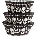 Halloween Skull Cupcake Cases - 5cm