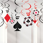 Casino Hanging Swirls Decoration - 60cm