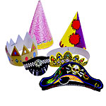 Large Card Party Hats - Assorted