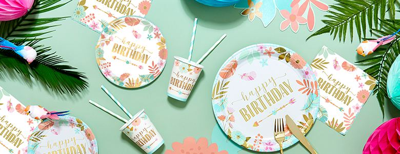 Boho Girl Birthday Party Supplies