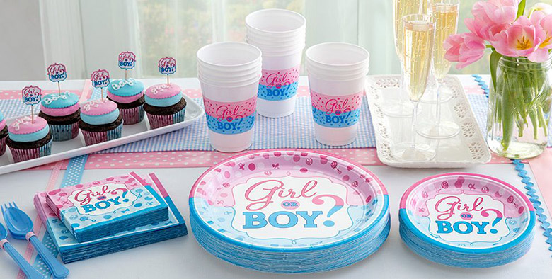 gender reveal party supplies for baby shower party delights