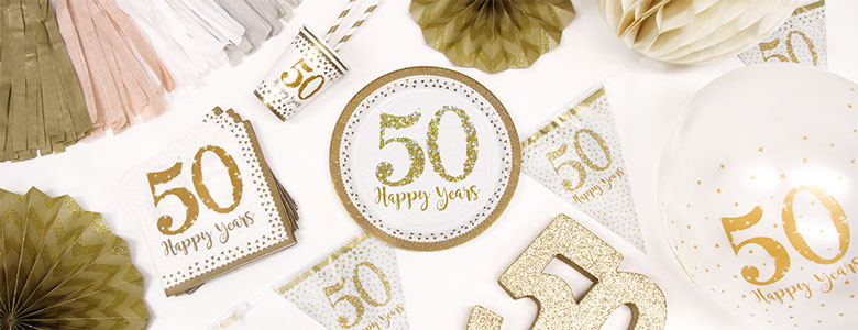 50th Wedding Anniversary Party Supplies