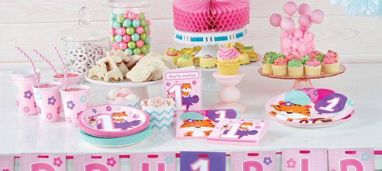 one is fun pink 1st birthday party supplies party delights