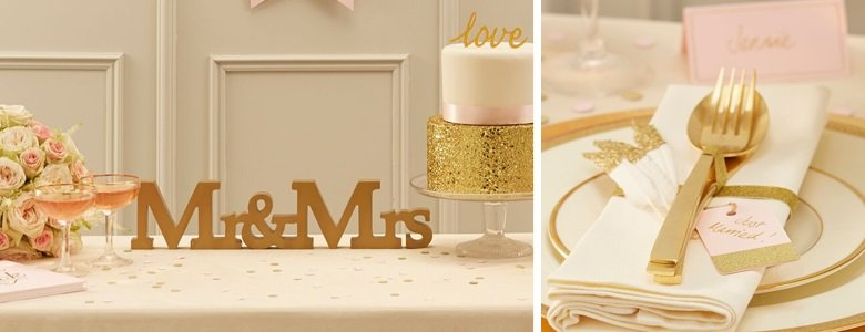 Pastel Wedding Decorations & Accessories